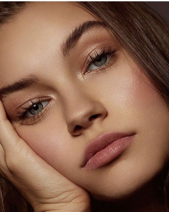 Love her eyes and highlighter! Try RMS Eye Polish in Lucky on both eyes and cheeks