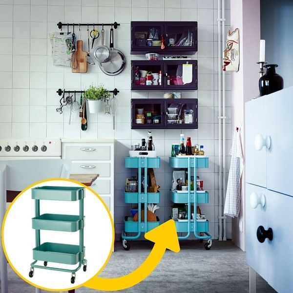 Les 25 meilleures id es concernant solutions pour petites cuisines sur pinter - Petites cuisines ikea ...