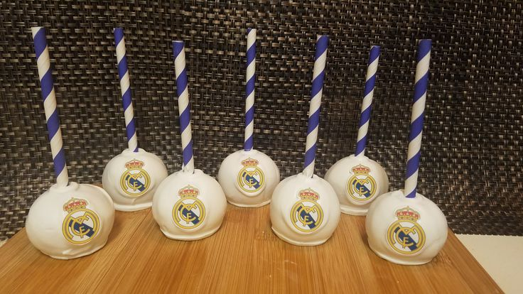 Real Madrid Cake Pops