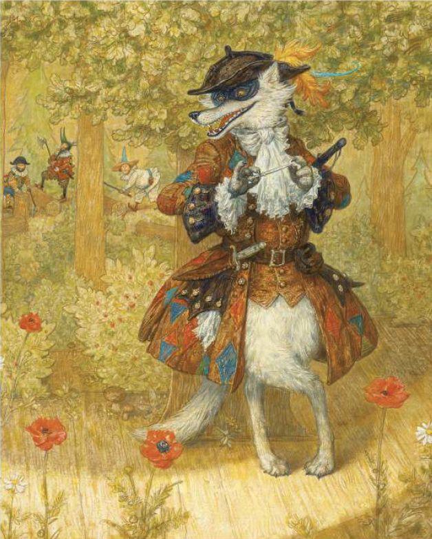 """illustrationen aus """"rotkäppchen und der wolf"""" von den"""