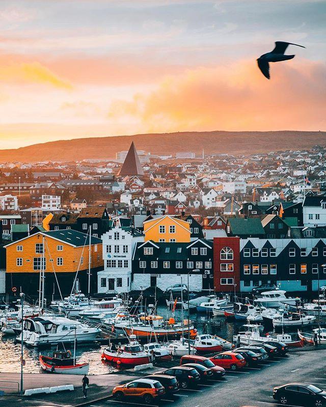 @kostennn | The city of Tórshavn. Faroe Islands most populated city. #VisitFaroeIslands #FaroeIslands #AtlanticAirways