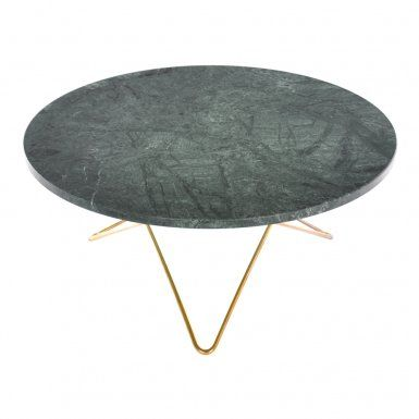O Table Marmor Green Indio Soffbord | OX Design | Länna Möbler | Handla online