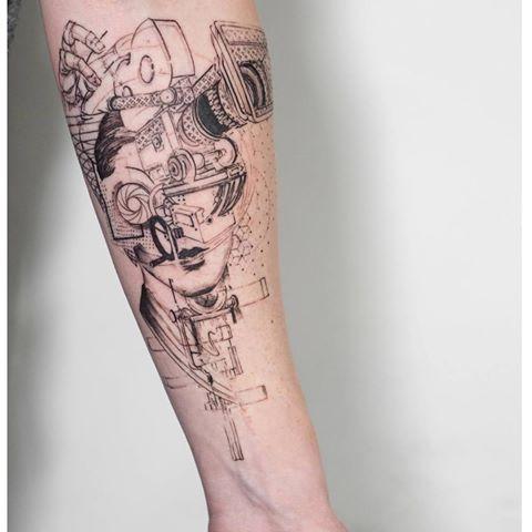 'SideBySide'(In Progress) by Mowgli  #mowgli #mowgliartist #tattoo #tattoos #tattrx #london #throughmythirdeye #graphical #graphicaltattoo #geometric #geometrictattoo #blackwork #camera #films #pattern #love #life #portrait #hand #avantgarde #art #lens