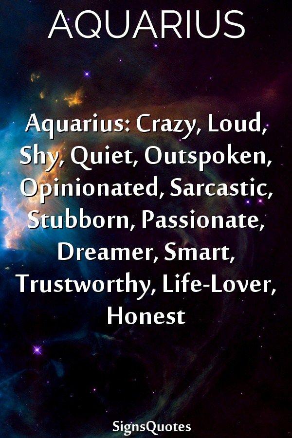Aquarius Crazy, Loud, Shy, Quiet, Outspoken, Opinionated -4593
