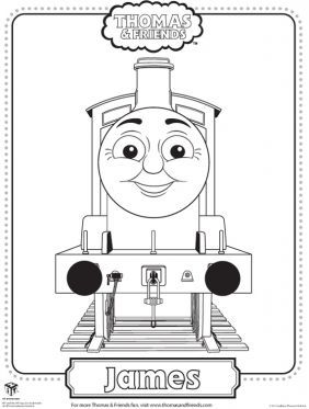 James Coloring Page Thomas Friends Pages For Kids