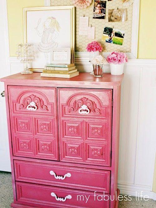 20 ideas para pintar muebles de madera antiguos a todo color 7