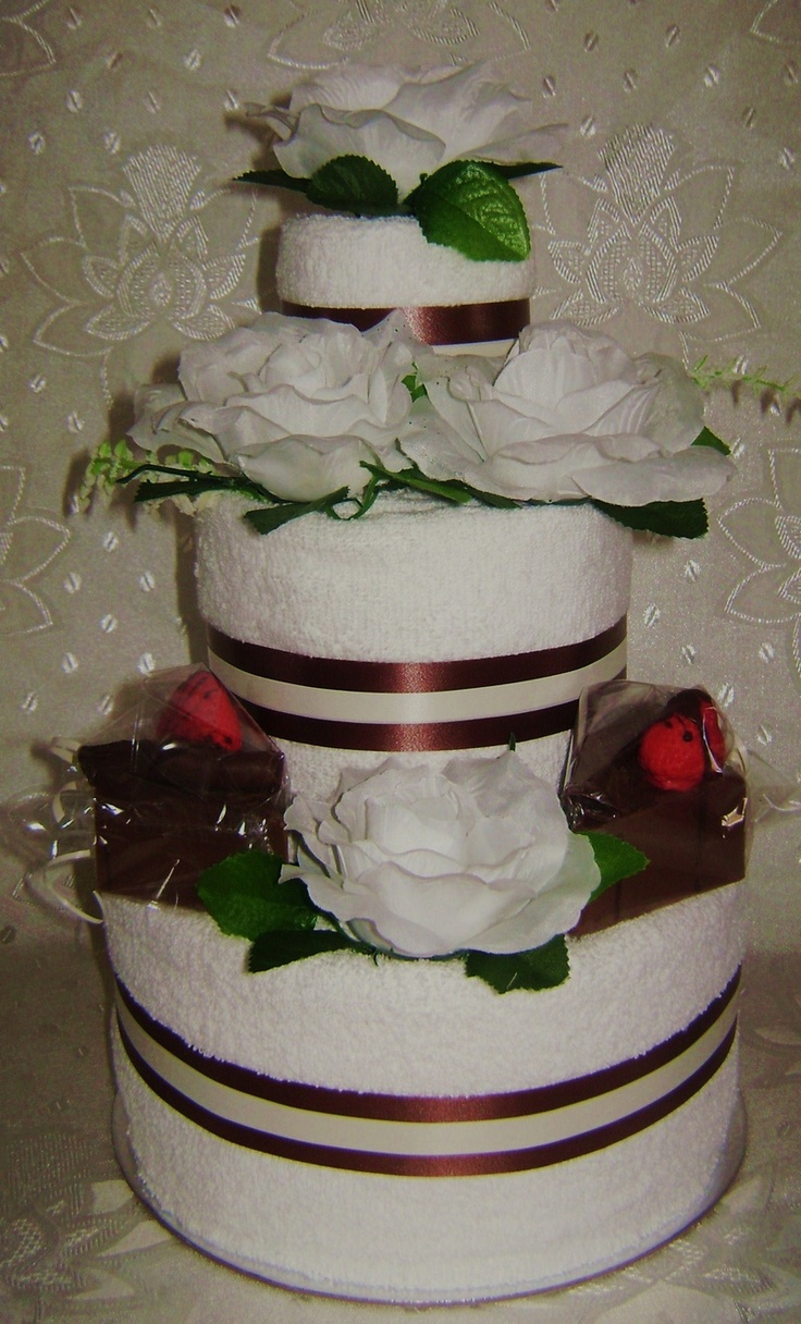 Towel Wedding Cake Centerpiece | Pin Wedding Towel Cakes Love Marriage Baby Carriage Gifts cake picture ...