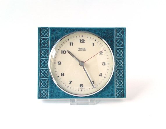 Vintage wall clock West German pottery ceramic by MightyVintage, €52.00