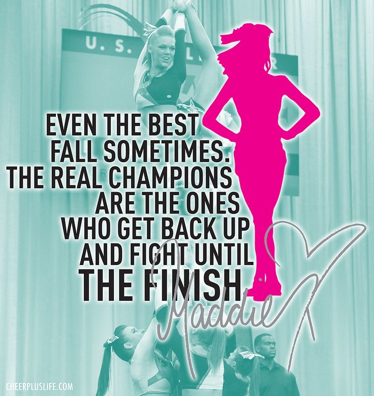 even though I'm not a cheerleader I like this quote