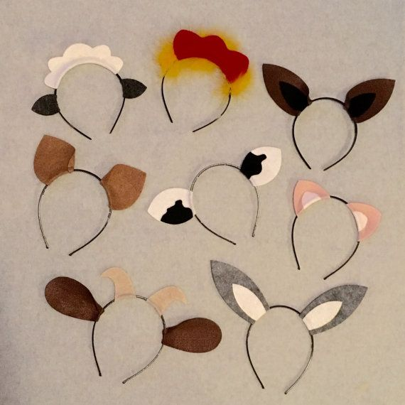 Barnyard farm animals theme ears headband birthday by Partyears