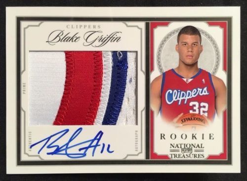 2009-10 National Treasures #201 Blake Griffin Rookie Patch Auto RC /99 SICK 3CLR