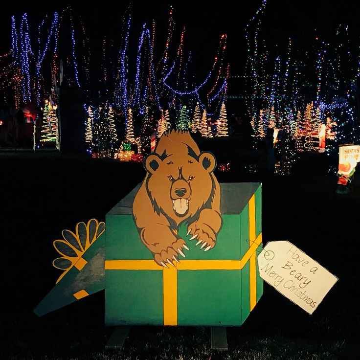 As the sign says... Have a Beary Merry Christmas, #Baylor family!! #SicEm