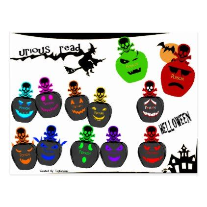 #Halloween Perfume Bottle Emoji Postcard - #Halloween #happyhalloween #festival #party #holiday