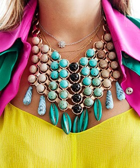 jewelry jewelry jewelry: Jewelry Jewelry, Colors Combos, Jewelry Necklaces, Statement Necklaces, Modern Fashion, Jewelry Trends, Statement Jewelry, Bright Colors, Chunky Necklaces