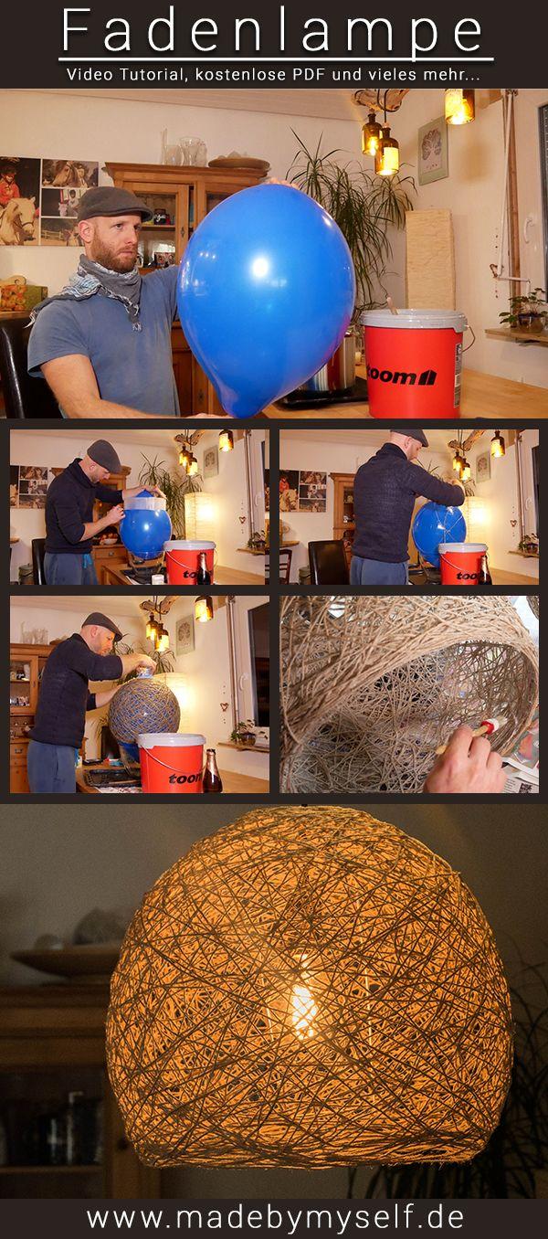 DIY Thread Lampe selber machen – schöner Lampenschirm nicht nur einfach, so …   – madebymyself DIY Deko Projekte