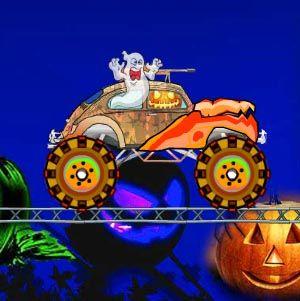 Masina monstru de Halloween - un joc de condus masini