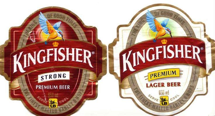 Kingfisher Beer bottle labels, Premium beer, Beer