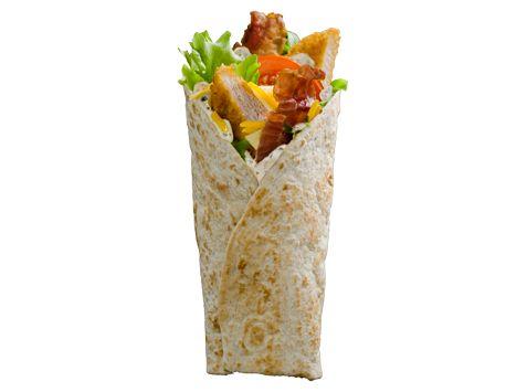 McWRAP™ POULET BACON Une tortilla de blé garnie de poulet croustillant, du bacon grillé, une tranche de cheddar fondu et une délicieuse sauce onctueuse. Fondez pour cette recette très gourmande.