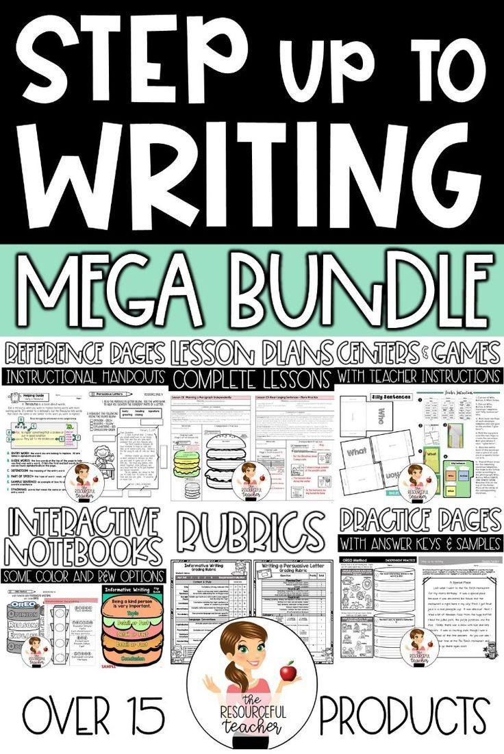 Step Up To Writing Inspired Mega Bundle Writing Lessons