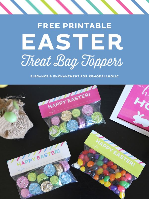 100 best images about easter on pinterest happy easter peeps free printable easter treat bag toppers by elegance enchantment for remodelaholic negle Choice Image