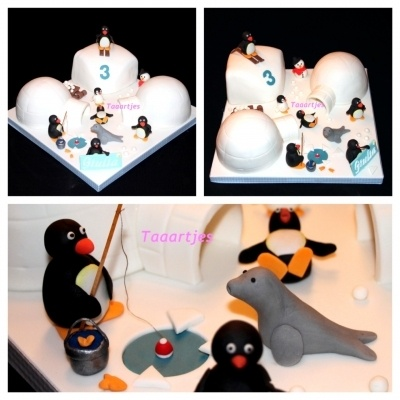 Pingu cake By Taaartjes on CakeCentral.com