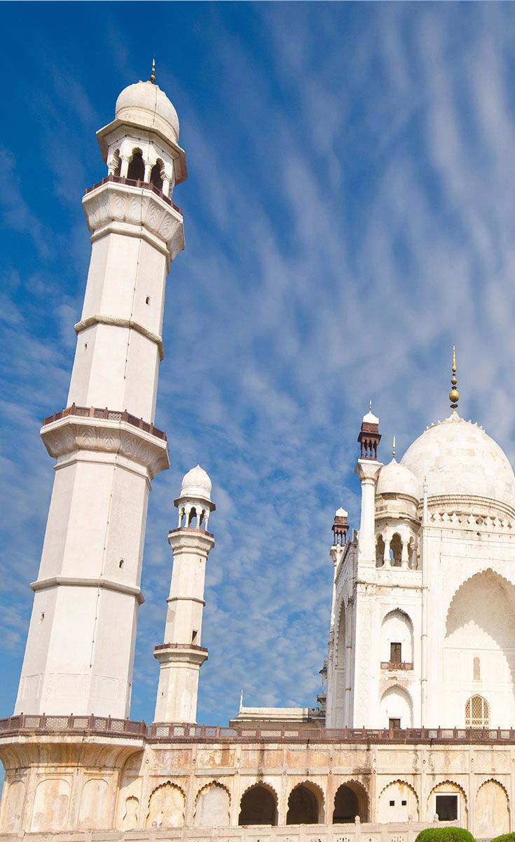 """Did you know that India has not one but two Taj Mahals? Indeed, there is a monument very similar to the Taj that stands in Aurangabad in Maharashtra. It is a mausoleum called Bibi Ka Maqbara (""""Tomb of the Lady"""") built by Prince Azam Shah, the son of the sixth Mughal Emperor Aurangzeb, between 1651 and 1661 A.D, in the memory of his mother, Dilras Banu Begum. If you don't manage a trip to the Taj Mahal this could well be the next best thing."""