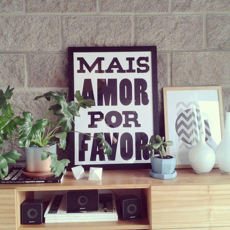 Cuadro Mais Amor Por Favor - comprar online