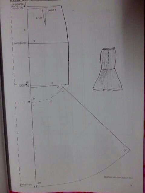 Peplum skirt drafting