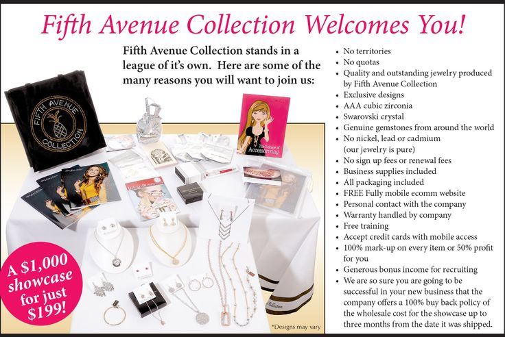 We'd love to have you on our Fifth Avenue Collection team!!  Contact us today to start a fun way to earn extra $$$!!