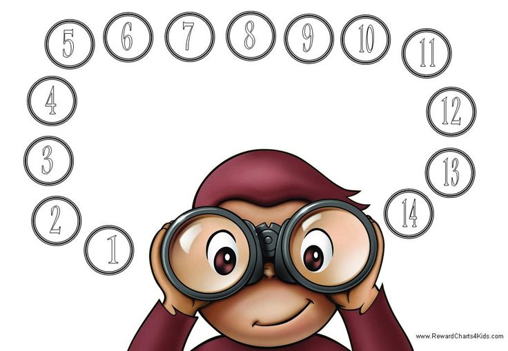 free printable curious george | Curious George Behavior Chart