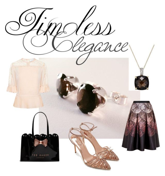 """""""Elegance"""" by joalustrousjewellery ❤ liked on Polyvore featuring Ted Baker and Tanya Taylor"""