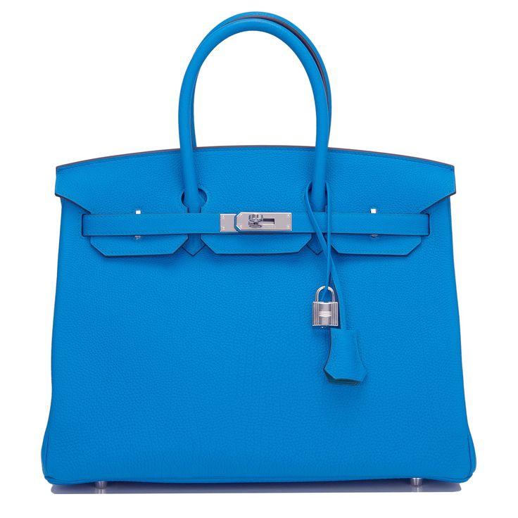 Hermes Bleu Zanzibar Verso Togo Birkin 35cm Palladium Hardware