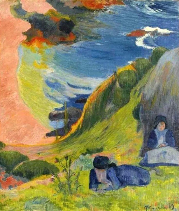 Paul Gauguin, Au dessus de la Mer, 1889