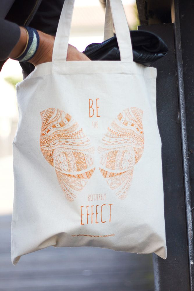 BTE tote bag - spread your positive message to the world!