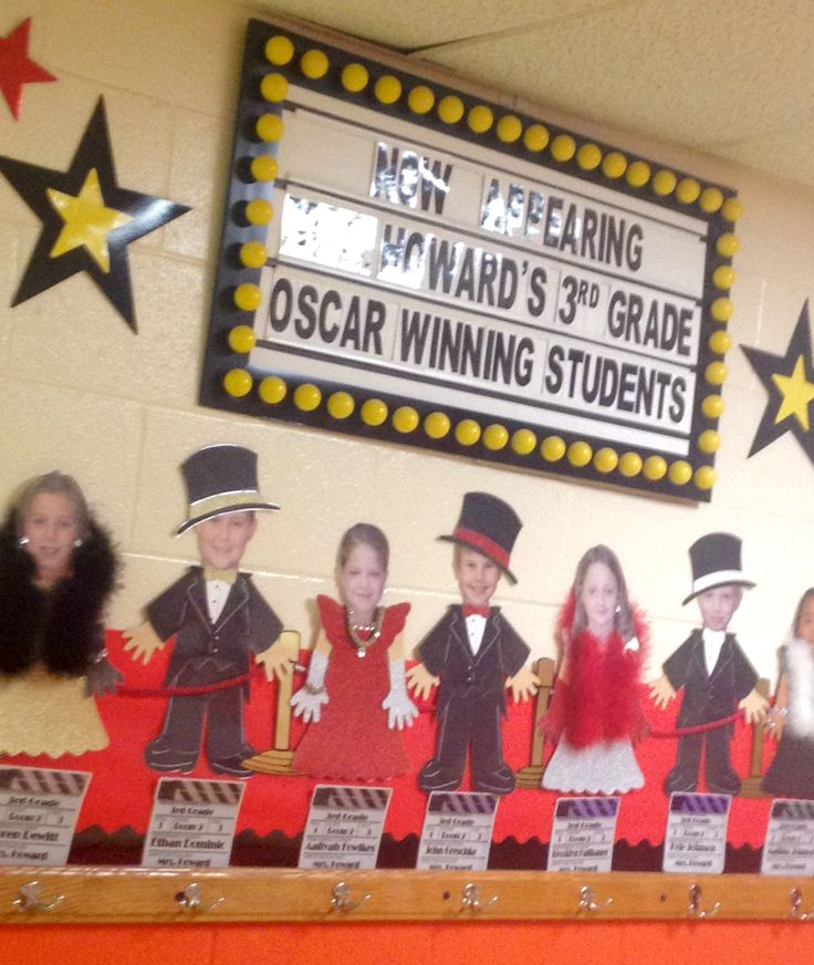 """Hollywood """"Students On the Red Carpet"""" hallway decorations"""