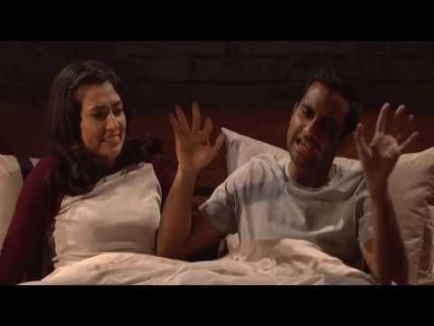 """Aziz Ansari's attempt to talk dirty with his girlfriend goes way bad in a """"SNL"""" sketch - YouTube"""