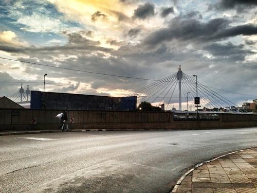 Nelson Mandela Bridge at sunset