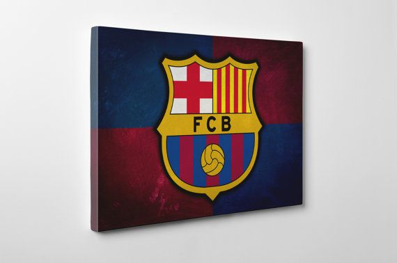 Barcelona Canvas and Print Handmade Wall Art Sports