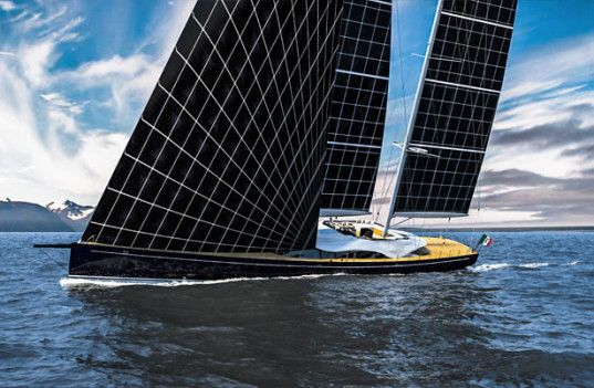 The sails on this yacht are actually solar cells! http://inhabitat.com/helios-concept-yacht-harvests-solar-power-to-explore-the-worlds-high-seas/