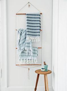 DIY Bathroom Towel Rack with Copper Pipes   Tutorial in Danish