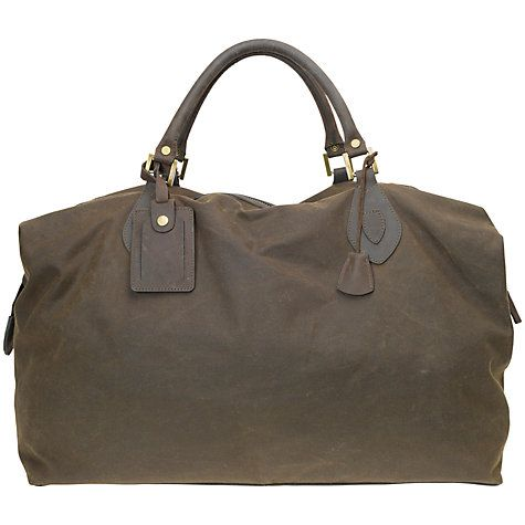 Buy Barbour Wax Cotton Travel Explorer Holdall Online at johnlewis.com