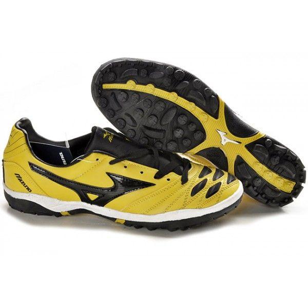 Mizuno Wave Ignitus K-Leather TF Soccer Cleats-Yellow Black