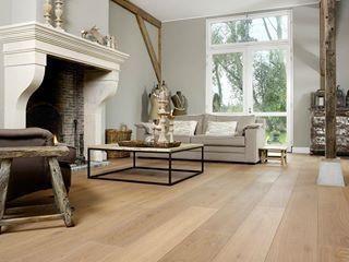Prachtige eiken houten vloer