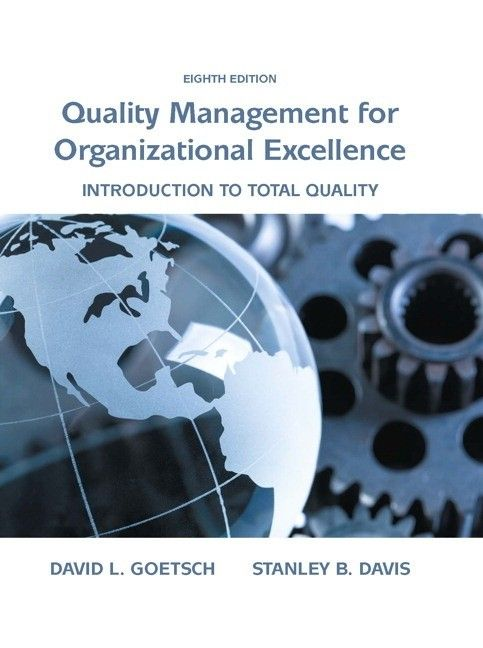 Quality management for organizational excellence / Goetsch David L. 8th ed.