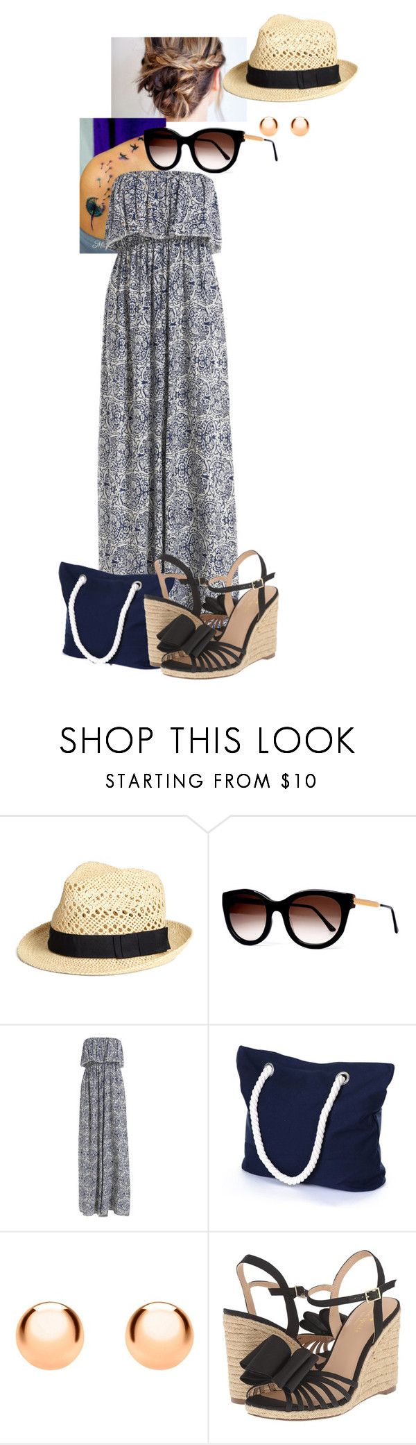 """""""Day on the water front"""" by huntress-383 ❤ liked on Polyvore featuring H&M, Thierry Lasry, IBB and Kate Spade"""
