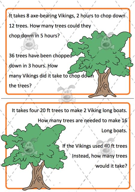 Teacher's Pet Activities & Games » Editable Viking Word Problem Challenges » EYFS, KS1, KS2 classroom activity and game resources » A Sparklebox alternative
