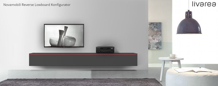 Modern TV Media furniture configurator from Italy. Available in 8 colors with handle in your favorite color.  Das Moderne TV Möbelstück Reverse kommt aus Italien und kann einfach und schnell in 7 Schritten konfiguriert werden. Wählen Sie zwischen 4 Breiten und ob es auf den Boden oder an der Wand hängen soll. Die Lackierung ist in einer von 8 Farben in Hochglanz oder Matt erhältlich. Optional können Sie die Griffkerbe in einer anderen Farbe wählen und so Akzente setzen.