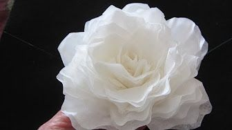 How to make paper roses for your scrapbooks and cards tutorial shabby chic - YouTube