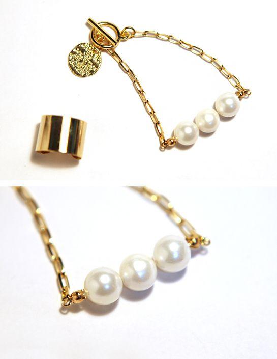 [바보사랑] 우아함의 끝! 진주팔찌..갖고싶어요.. /팔찌/주얼리/패션주얼리/진주/골드/체인/고급/럭셔리/로맨틱/핸드메이드/Bracelet/Jewelry/Fashion Jewelry/Pearl/Gold/Chain/Luxury/Romantic/Handmade