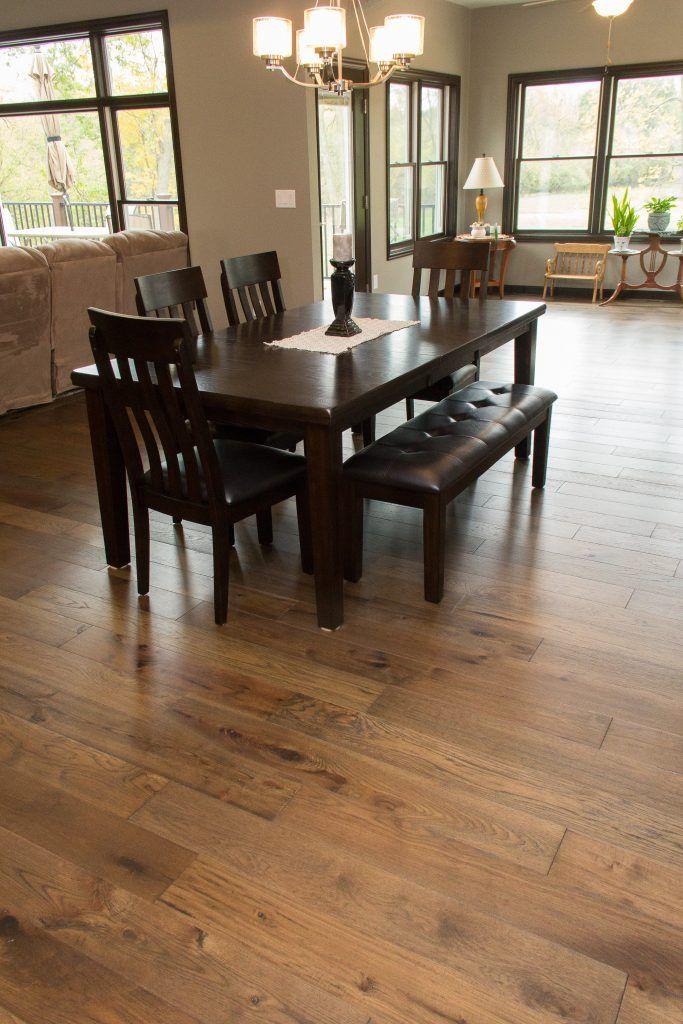 Hickory Hardwood Dining Room Floor Hickory Wood Floors Wood Floors Dark Wood Furniture